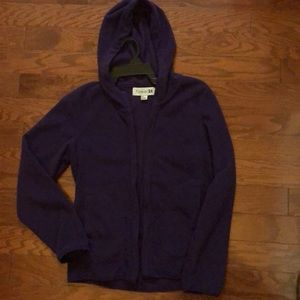 Purple fleece zip up with pockets